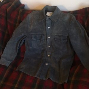 Vintage waxed suede jacket made in USA